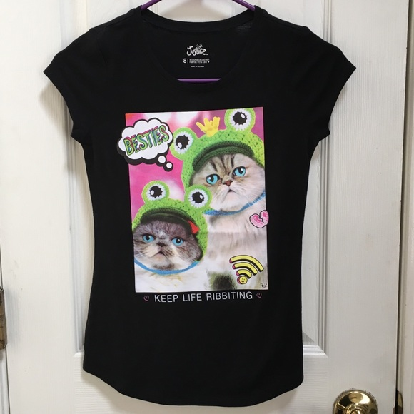 Justice Other - Justice cat frog bff best friend shirt